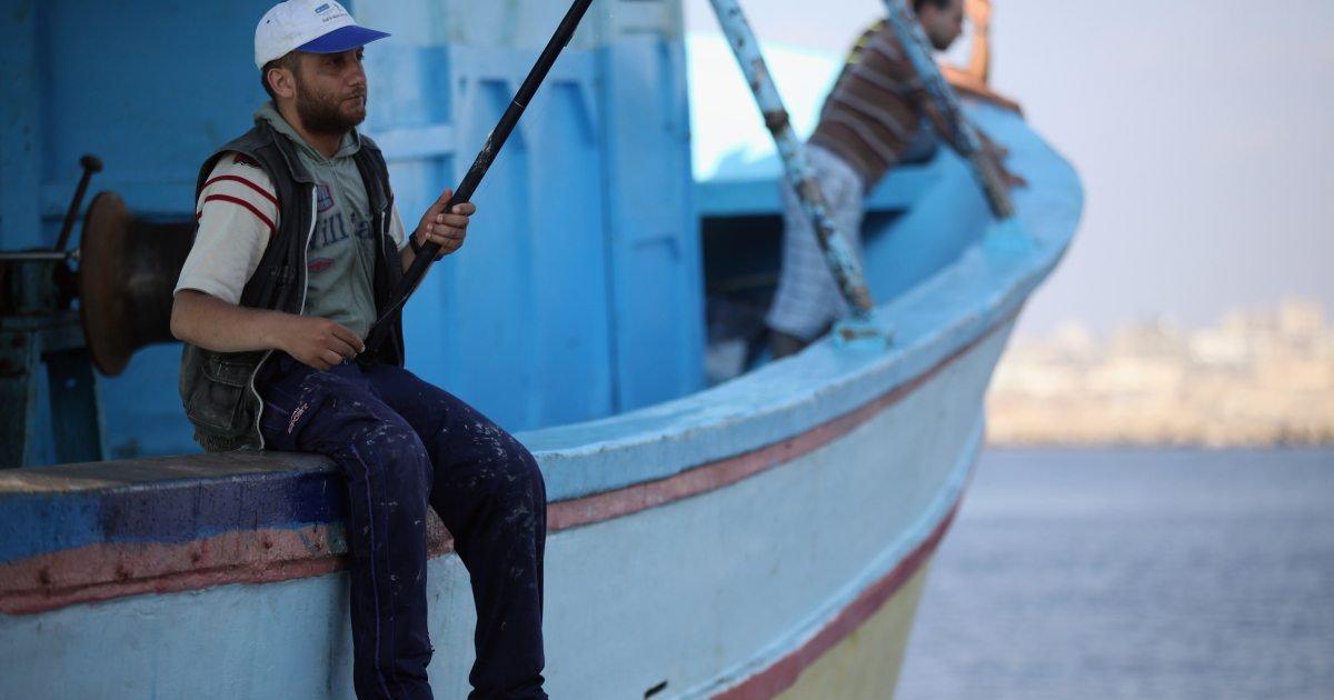 Gaza fisherman test their new freedom after cease-fire allows them to set sail up to six miles from shore.</p>