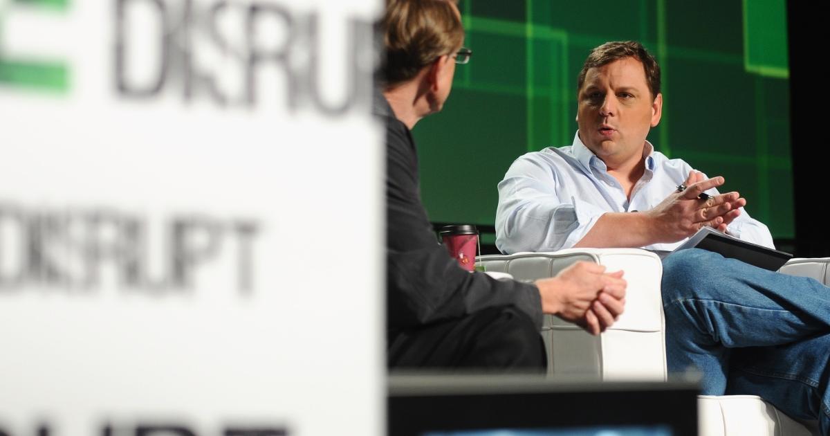 Kleiner Perkins Caufield &amp; Byers partner John Doerr (L) and TechCrunch Founder and Co-Editor Michael Arrington speak onstage at Day 3 of TechCrunch Disrupt SF 2011 held at the San Francisco Design Center Concourse on September 14, 2011 in San Francisco, California.</p>