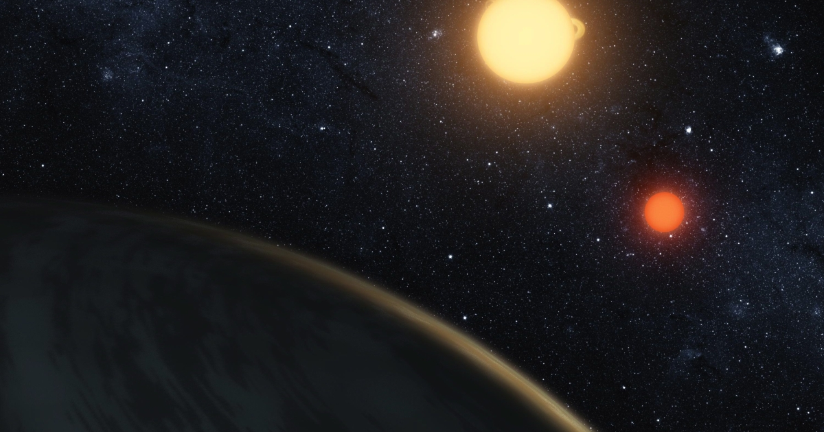 Digital illustration released on September 15, 2011 by NASA, the newly-discovered gaseous planet Kepler-16b orbits it's two stars. Researchers say Australia's Aborigines pre-date European stargazers, including Britain's astronomy-linked Stonehenge, which is estimated at 3,100 BC, around the age of the Great Pyramid of Giza.</p>