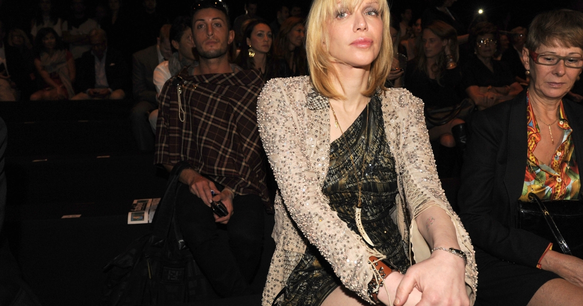 Courtney Love attends the Roberto Cavalli Spring/Summer 2012 fashion show as part Milan Womenswear Fashion Week on September 26, 2011 in Milan, Italy.</p>