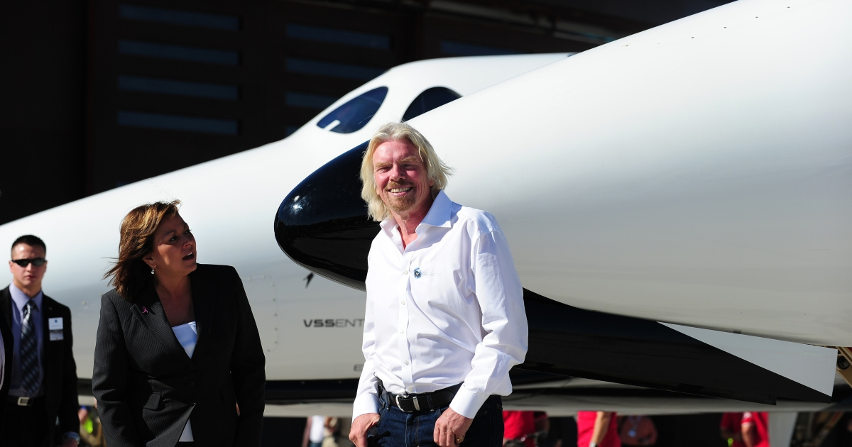 Sir Richard Branson's Virgin Galactic said it will launch its first test flight for a commercial space ship by the end of the year.</p>