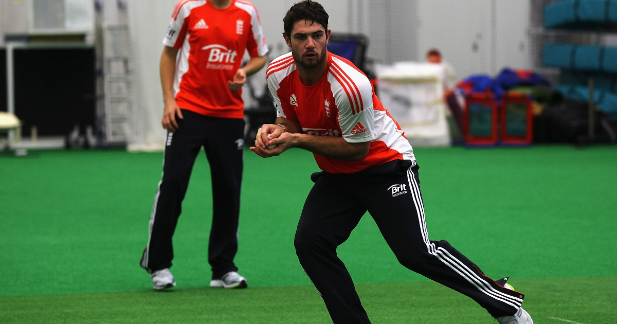 Tom Maynard of England in action during a training session at the National Cricket Performance Centre on October 31, 2011 in Loughborough, England.</p>