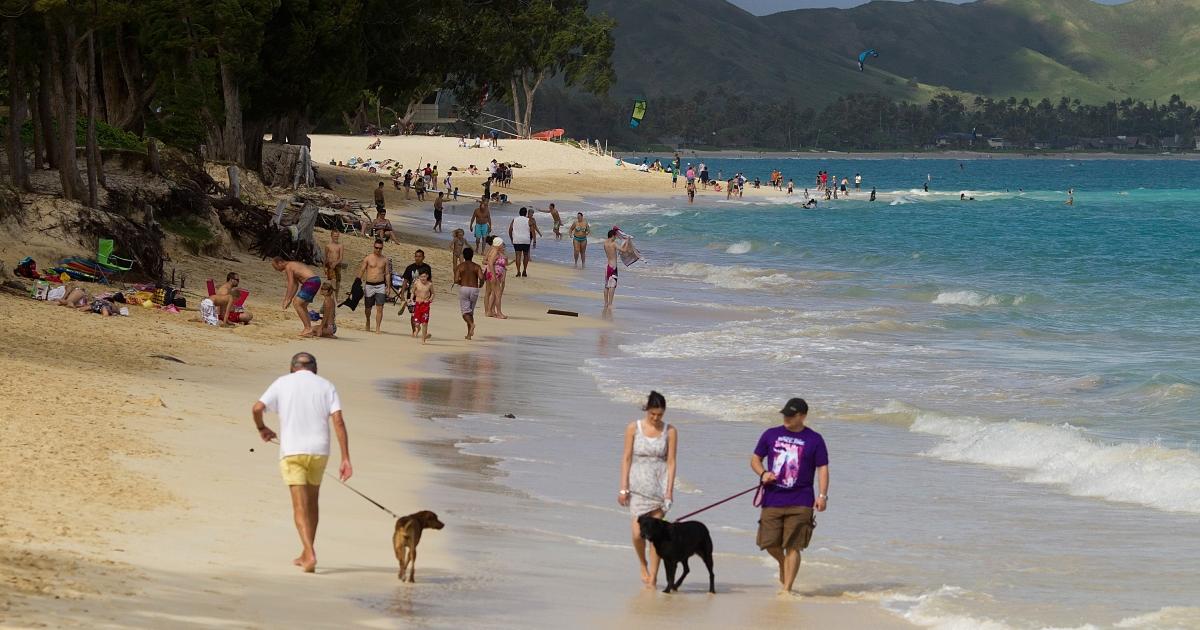 Kailua Beach park in Kailua, Hawaii.</p>