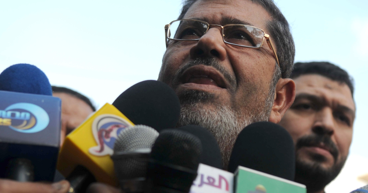 Senior Muslim Brotherhood official, Mohammed Morsi, says that Egypt may have to review peace treaty with Israel if US cuts $1.3 billion in aid.</p>
