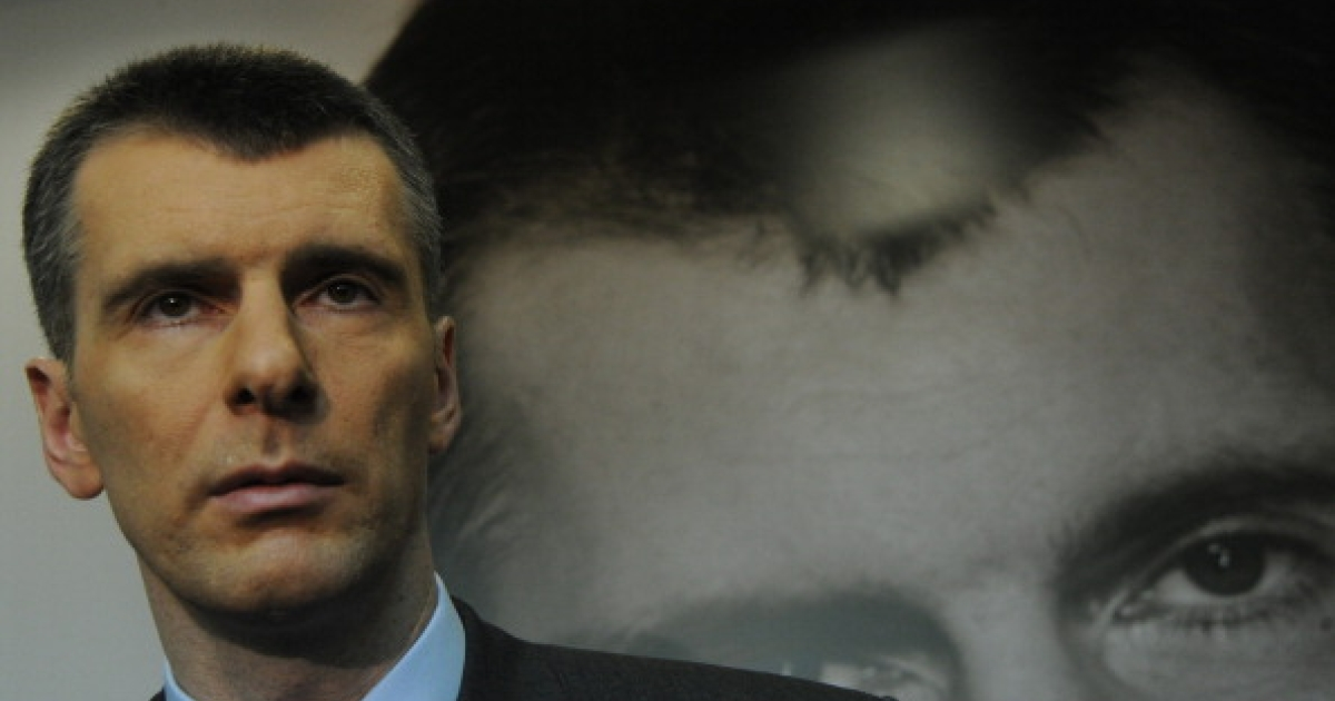 Billionaire Mikhail Prokhorov attends a meeting with his supporters who signed the petition collecting signatures for Prokhorov's registrations as a presidential candidate in Russia at one of the billionaire's campaign offices in Moscow, on January 13, 2012.</p>