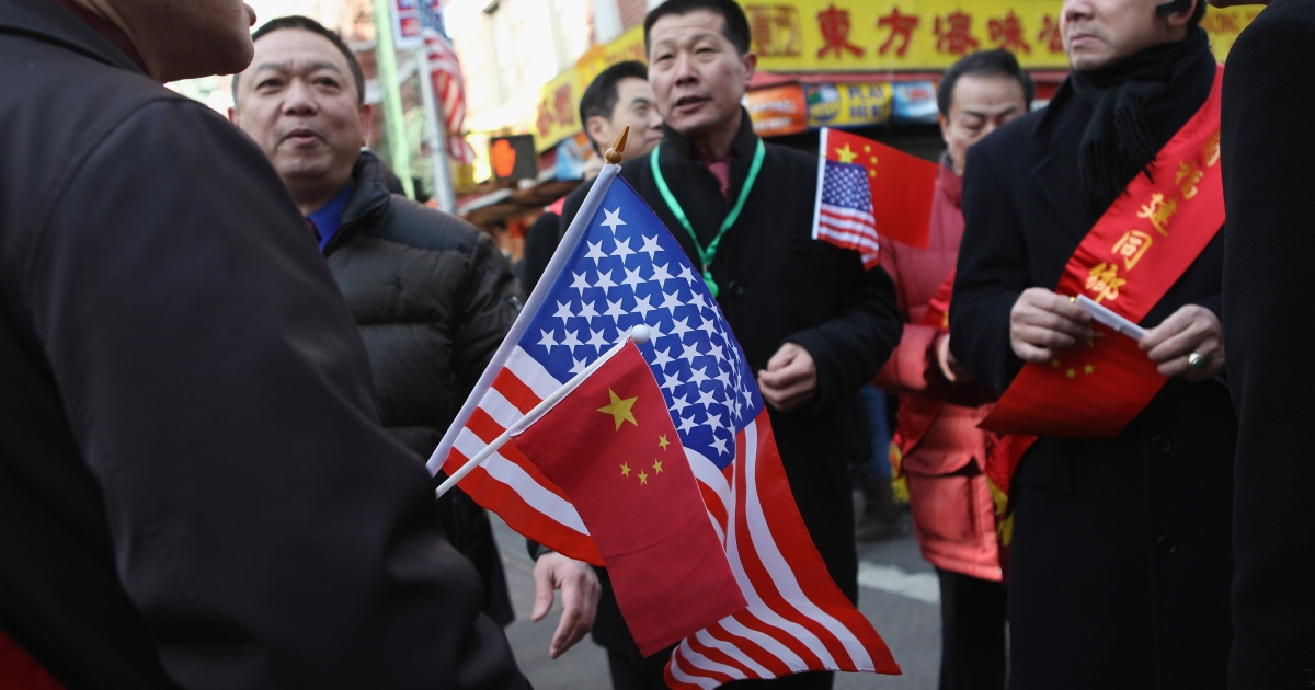 Participants in the Chinese New Year parade gather on January 29, 2012 in New York City.</p>