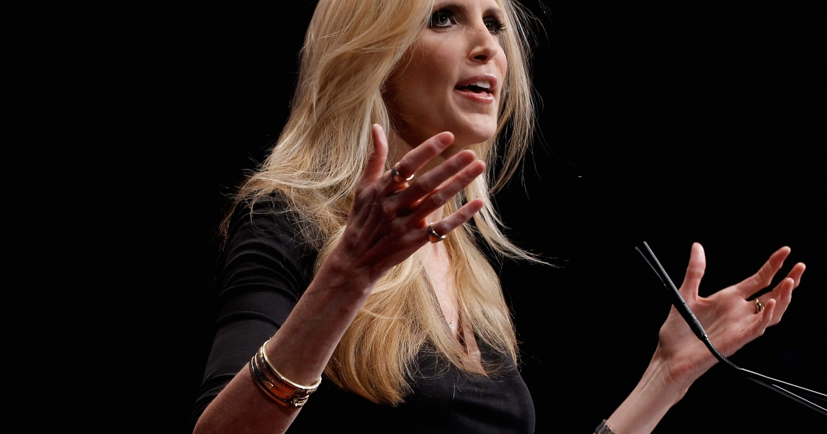 Conservative author and pundit Ann Coulter delivers remarks to the Conservative Political Action Conference (CPAC) at the Marriott Wardman Park February 10, 2012 in Washington, DC.</p>