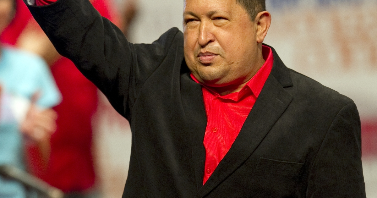 Chavez spoke to supporters Thursday night ahead of a trip to Cuba for surgery.</p>
