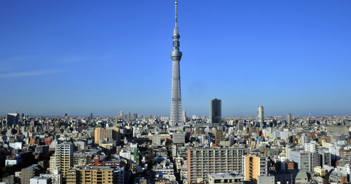 Tokyo's Sky Tree telecommunications tower is the tallest free standing structure in the world and the second tallest building after the Burj Khalifa in Dubai.</p>
