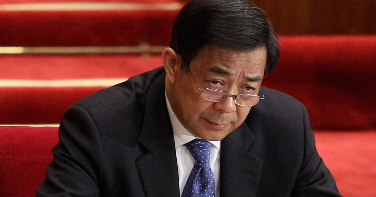 Sacked Chinese politician Bo Xilai, who battled organized crime in Chongqing.</p>