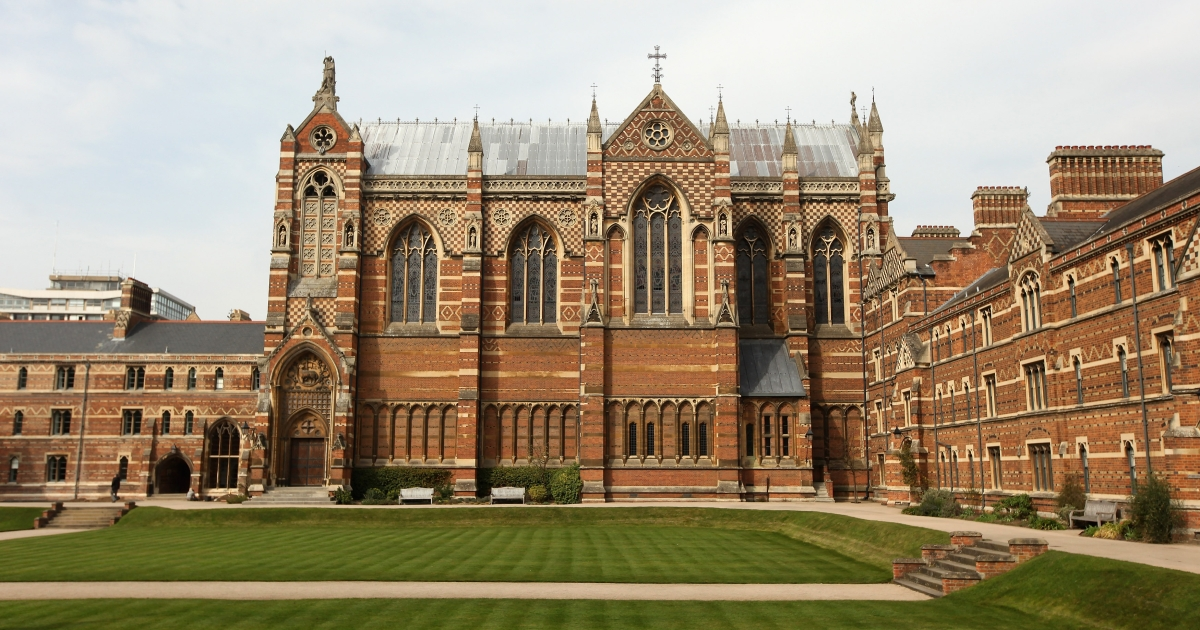 The chapel in Liddon Quad of Keble College on March 22, 2012 in Oxford, England.</p>