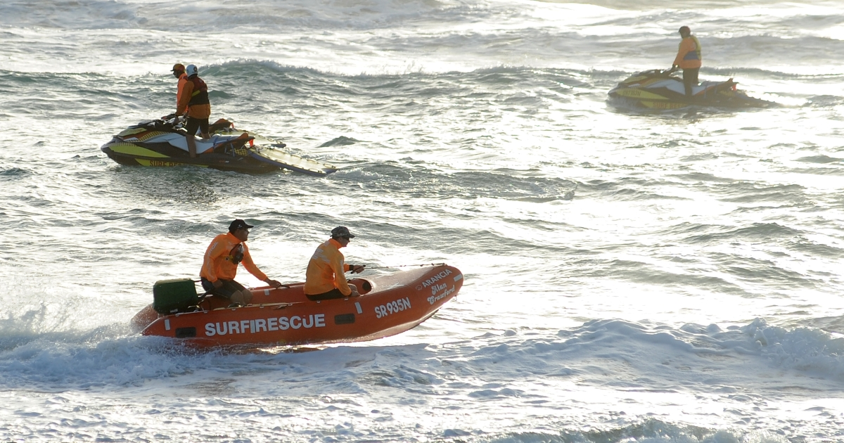 Search for missing Maroochydore SLSC competitor Matthew Barclay resumes at Kurrawa Beach on March 29, 2012 on the Gold Coast, Australia.</p>