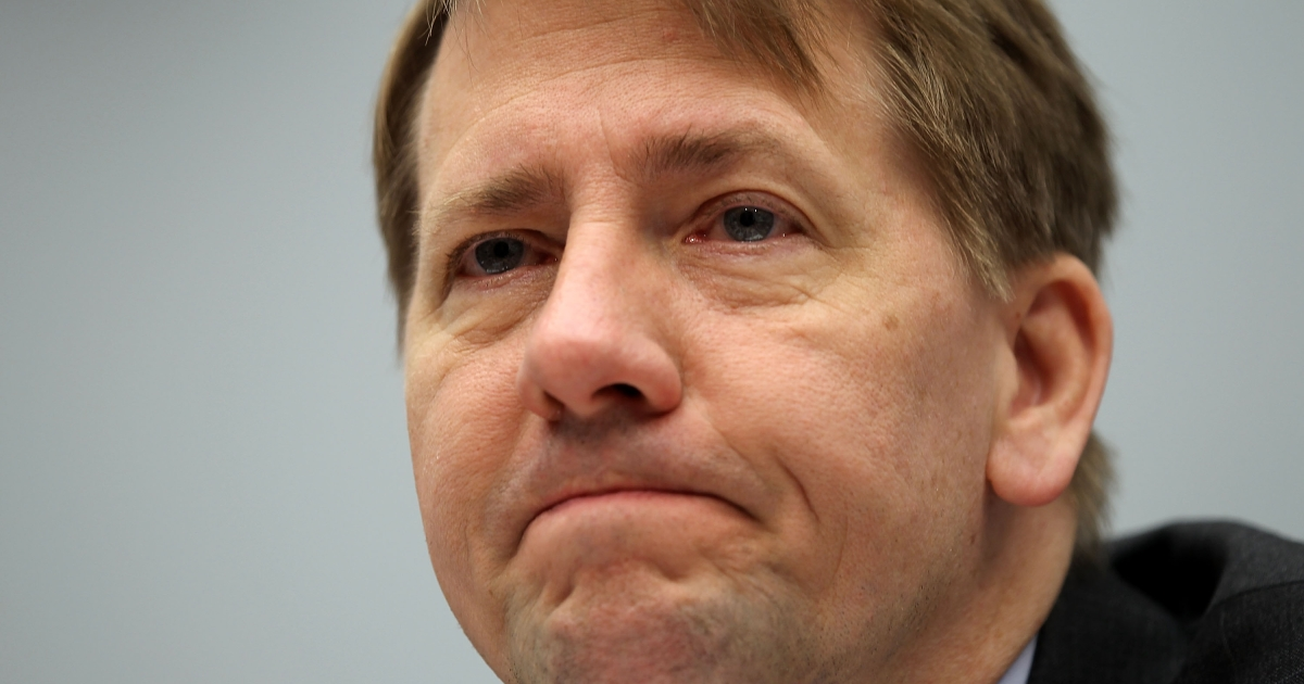 Director of the Consumer Financial Protection Bureau Richard Cordray testifies during a hearing before the House Financial Services Committee March 29, 2012.</p>