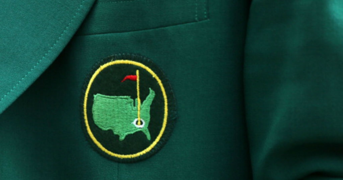 A detail of a members jacket is seen during the Par 3 Contest prior to the start of the 2012 Masters Tournament at Augusta National Golf Club on April 4, 2012 in Augusta, Georgia.</p>