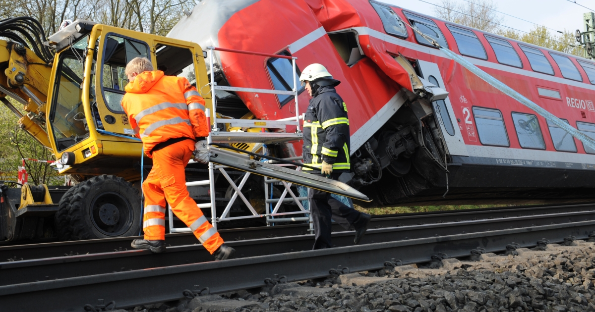 Three people died and six others were injured, one seriously, when a regional train collided with a works engine early Friday, on April 13, in western Germany.</p>