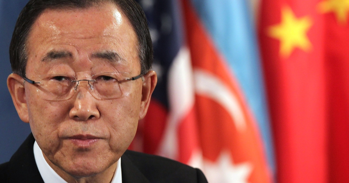 United Nations Secretary-General Ban Ki-moon used a letter to the Security Council to advocate for the approval of an expanded mission of 300 observers to Syria for an initial three-month period. The Secretary also warned that Syria hadn't fully complied with the truce.</p>