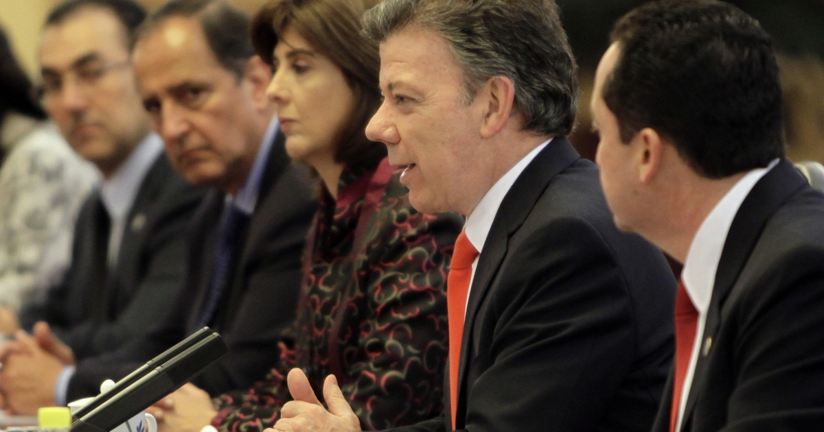 Colombian President Juan Manuel Santos has said he will begin peace talks with FARC.</p>