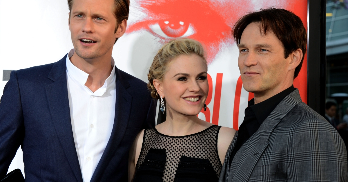 Alexander Skarsgard, Anna Paquin and Stephen Moyer arrive at the Premiere Of HBO's