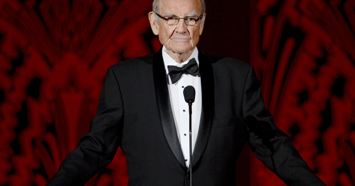 Sen. George McGovern speaks onstage at the 40th AFI Life Achievement Award honoring Shirley MacLaine held at Sony Pictures Studios on June 7, 2012 in Culver City, California.</p>