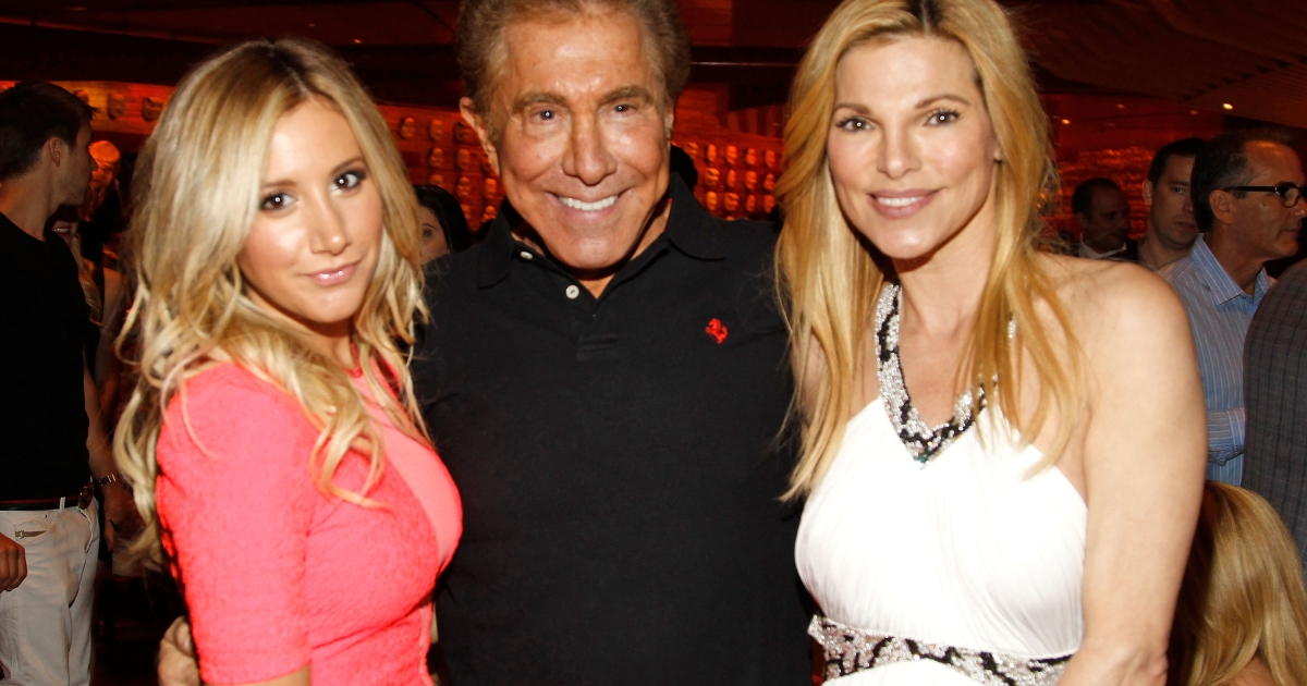 Actress Ashley Tisdale, Wynn Resorts Chairman CEO Steve Wynn and wife Andrea Wynn attend the