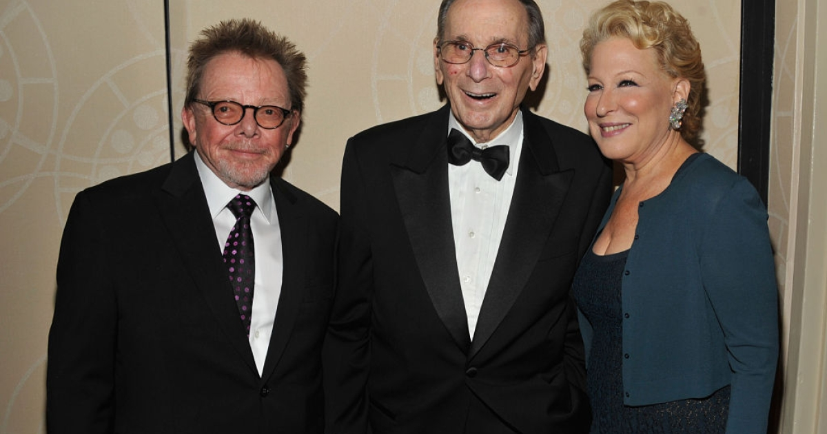 Paul Williams, Hal David , and Bette Midler attend the Songwriters Hall of Fame 43rd Annual induction and awards at The New York Marriott Marquis on June 14, 2012 in New York City.</p>