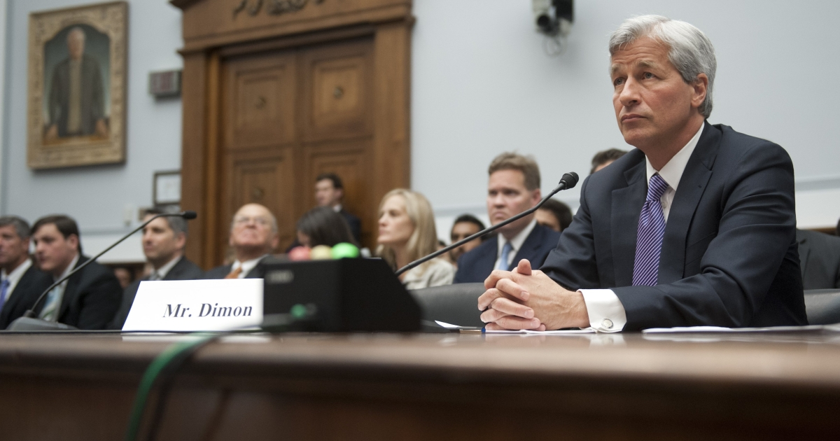 JP Morgan CEO Jamie Dimon purchased $17 million in shares in his own company Saturday.</p>