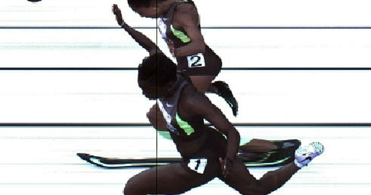 Allyson Felix and Jeneba Tarmoh tie for third place during day Two of the 2012 U.S. Olympic Track &amp; Field Team Trials at Hayward Field on June 23, 2012 in Eugene, Oregon.</p>