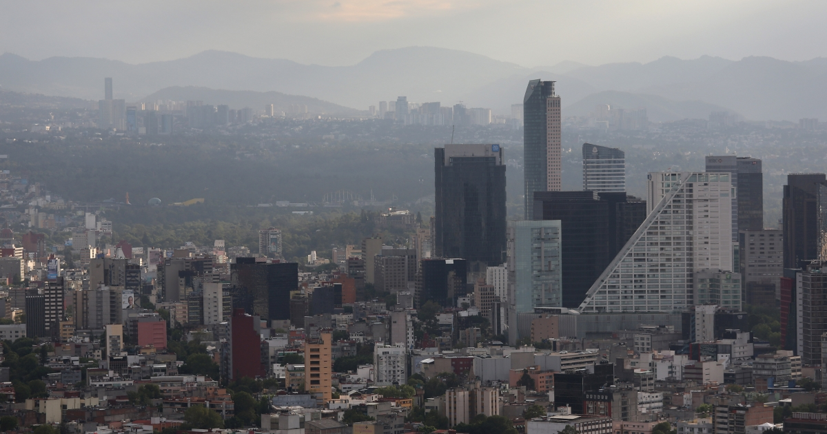 A view of the skyline of Mexico City, Mexico, on June 26, 2012.</p>