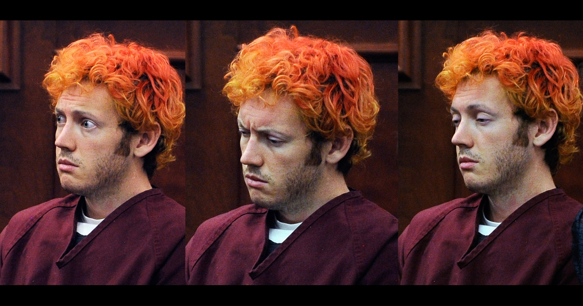 Accused movie theater shooter James Holmes makes his first court appearance at the Arapahoe County on July 23, 2012 in Centennial, Colorado.</p>