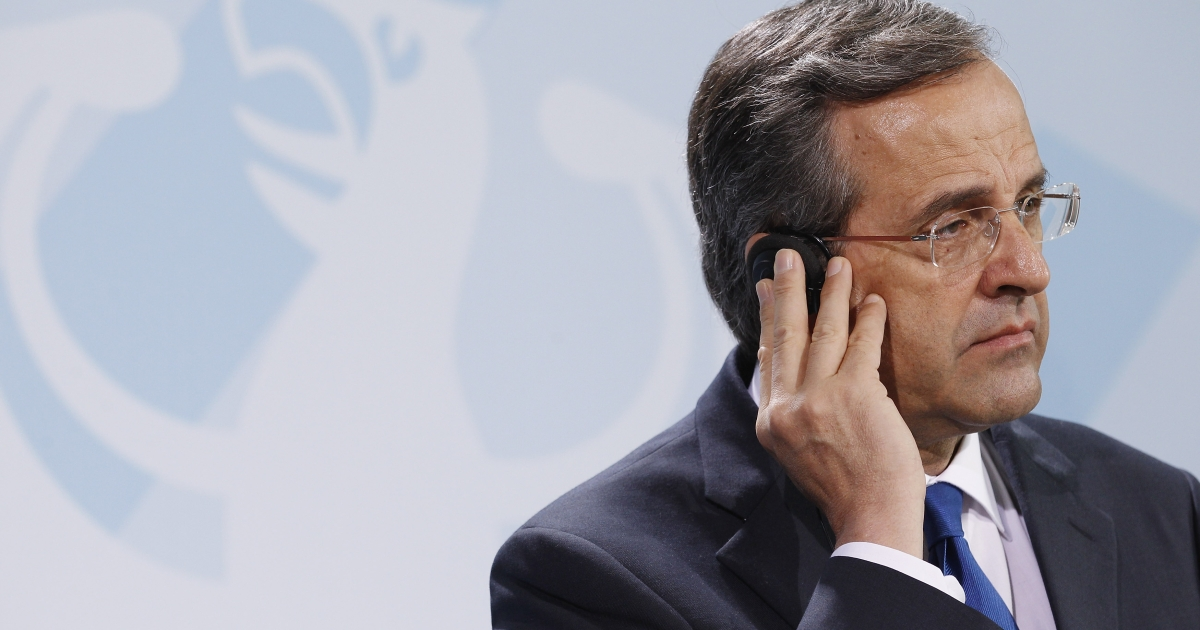 Greek Prime Minister Antonis Samaras said that without the next tranche from the EU, Greece will be broke by end of November.</p>