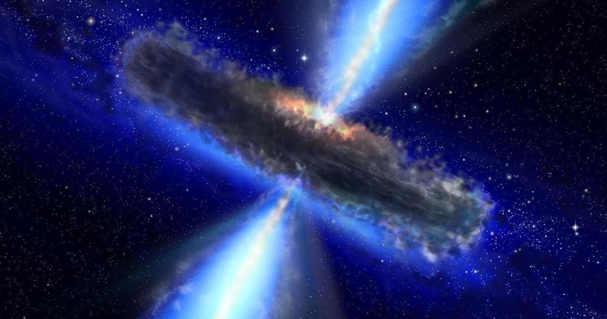 A quasar blast.</p>