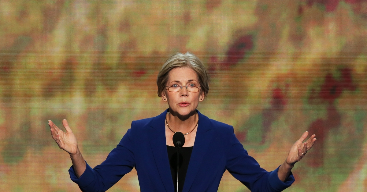 Massachusetts Senate candidate Elizabeth Warren speaks during day two of the Democratic National Convention at Time Warner Cable Arena on September 5, 2012 in Charlotte, North Carolina.</p>