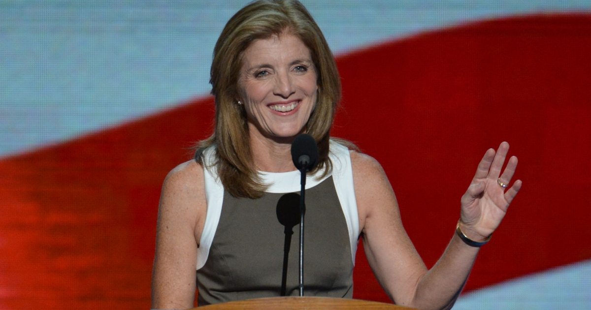Caroline Kennedy speaks at the DNC.</p>