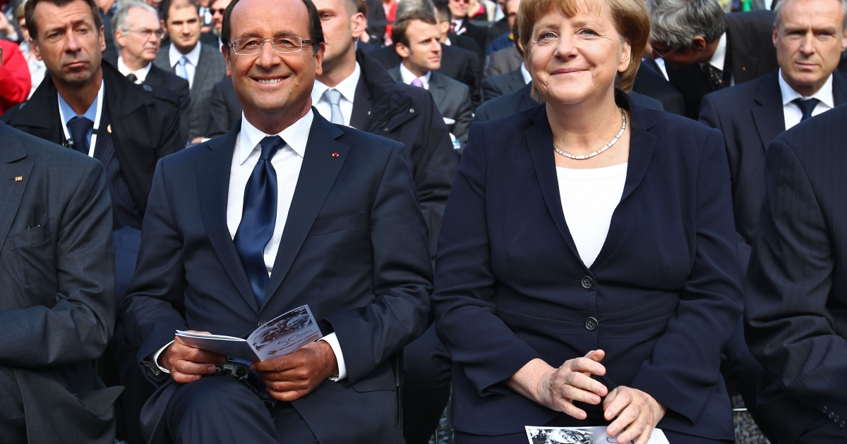 The French president and the German Chancellor butt heads over EU bank union.</p>