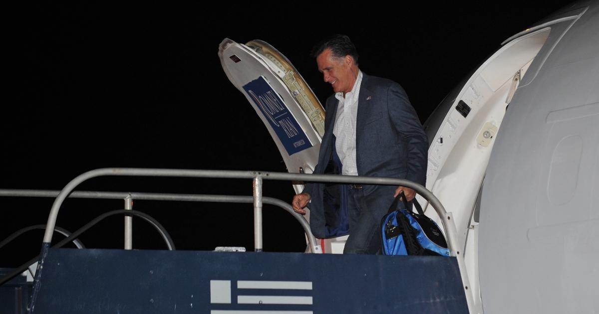 Mitt Romney wonders why airplane windows don't open.</p>