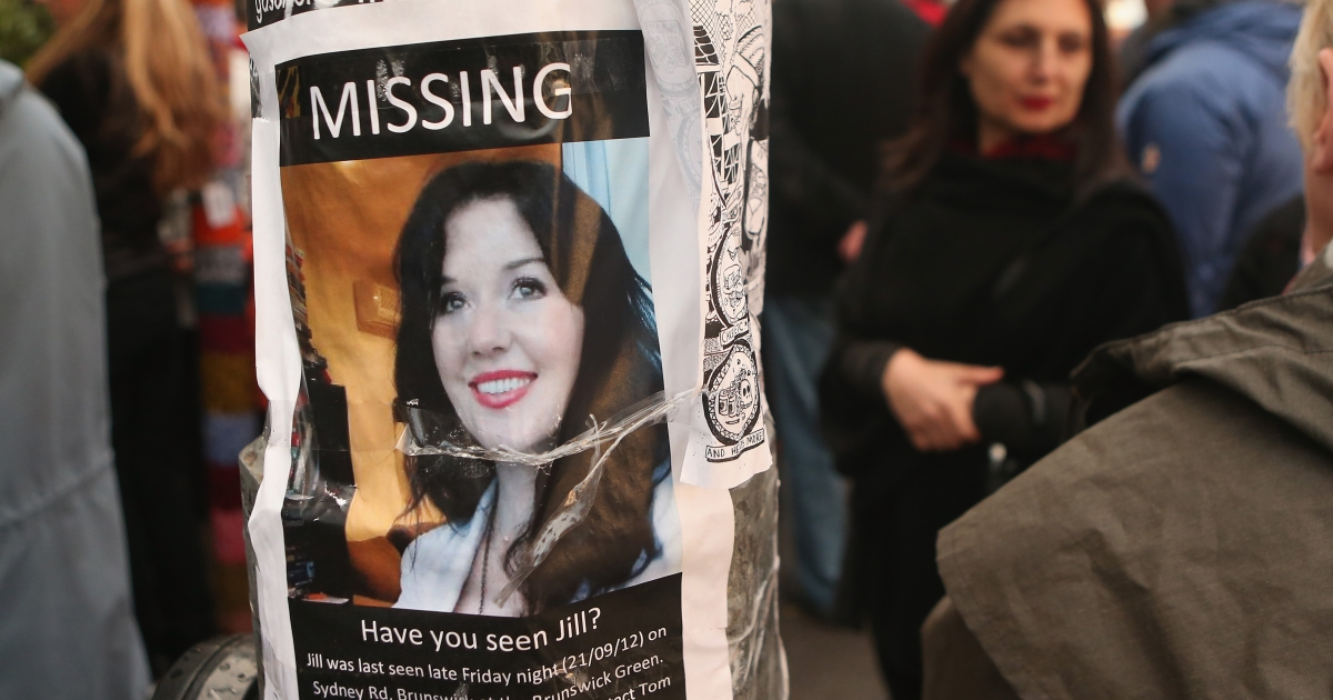 A missing poster for Jill Meagher, whose body was found by police buried in a shallow grave north-west of Melbourne, is taped to a lamppost on Sydney Rd on September 28, 2012 in Melbourne, Australia.</p>