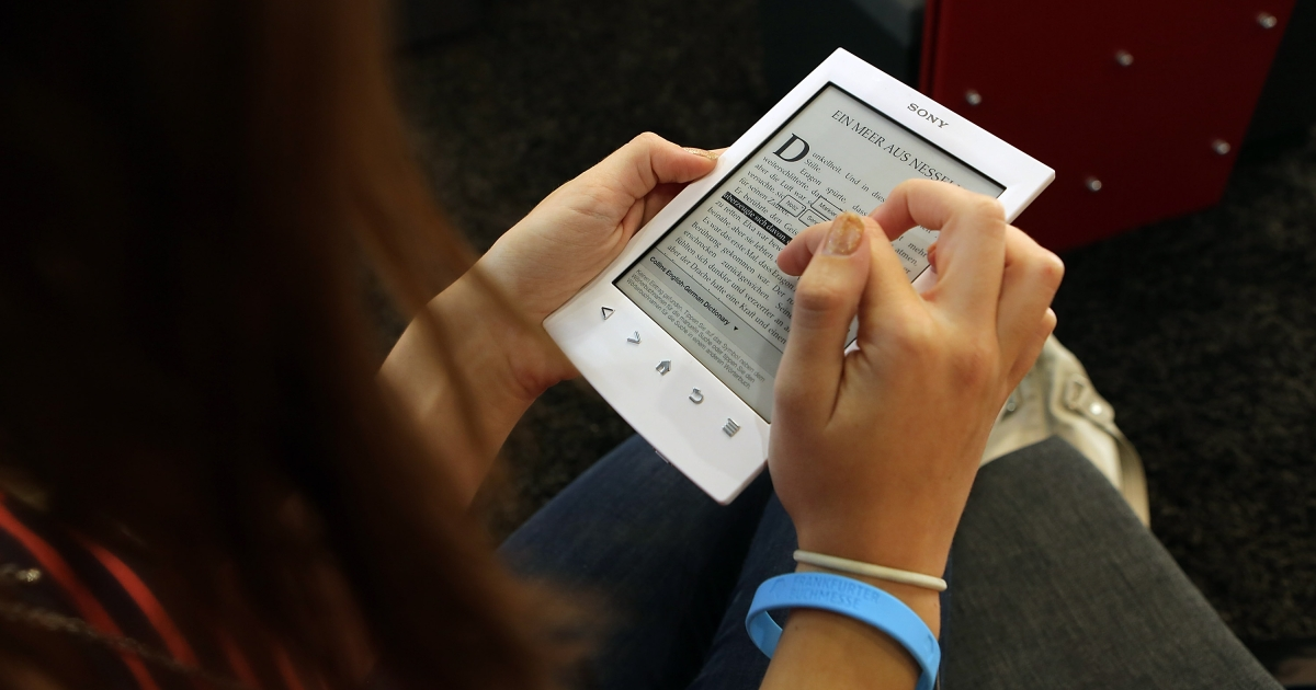 E-books and tablet readers are poised to surpass print books which have been steadily declining.</p>