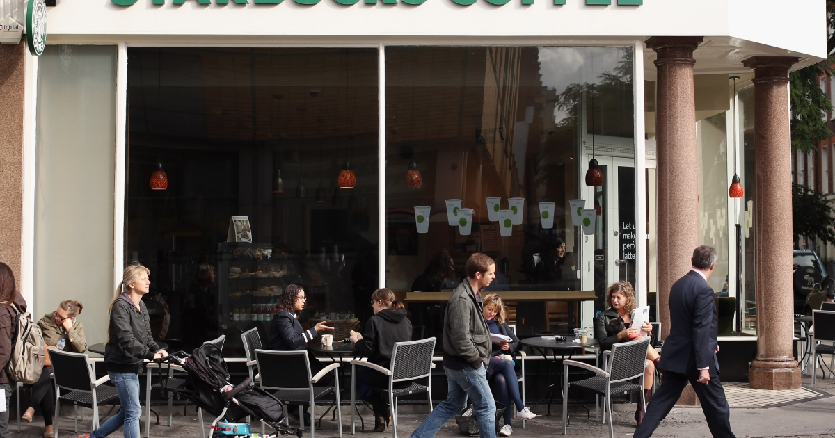 Starbucks announced that its profits had outpaced last years'.</p>