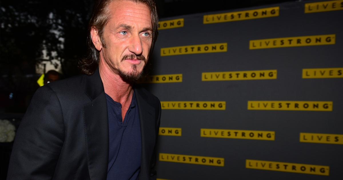 Actor Sean Penn arrives on the yellow carpet for the