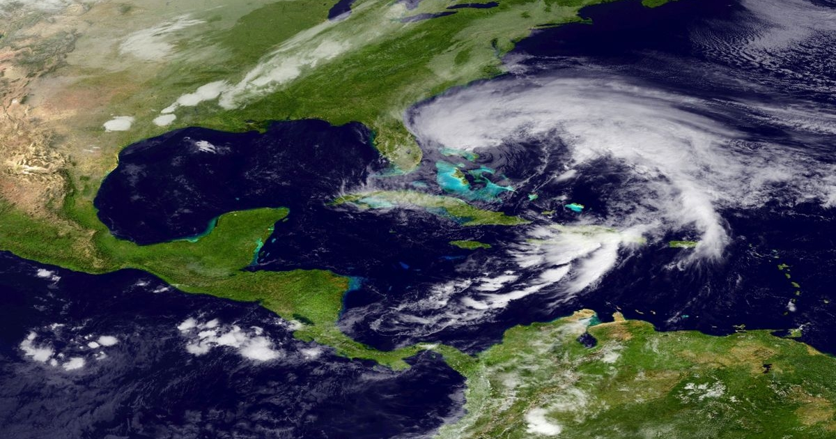 In this handout satellite image provided by National Oceanic and Atmospheric Administration (NOAA), Hurricane Sandy churns off the coast of Florida on Oct. 26, 2012.</p>