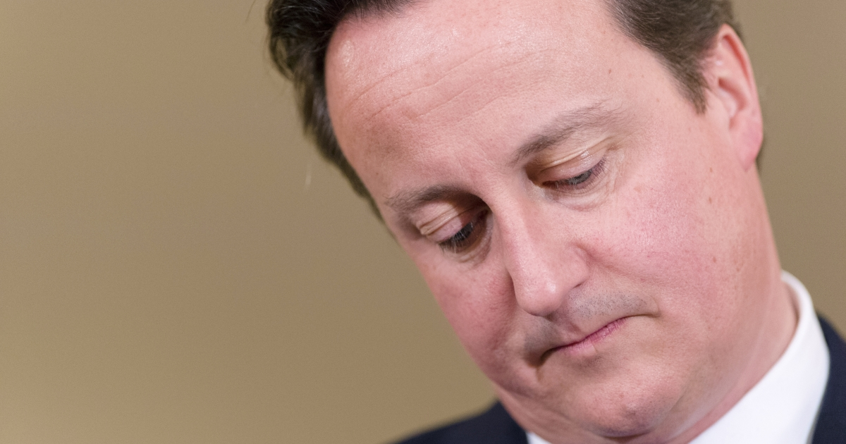 British Prime Minister David Cameron pictured at number 10, Downing Street on November 1, 2012 in London, England.</p>