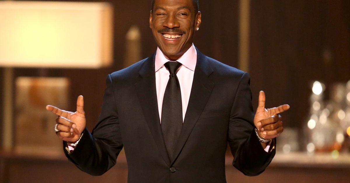 Eddie Murphy speaks onstage at Spike TV's 'Eddie Murphy: One Night Only' at the Saban Theatre on November 3, 2012 in Beverly Hills, California.</p>