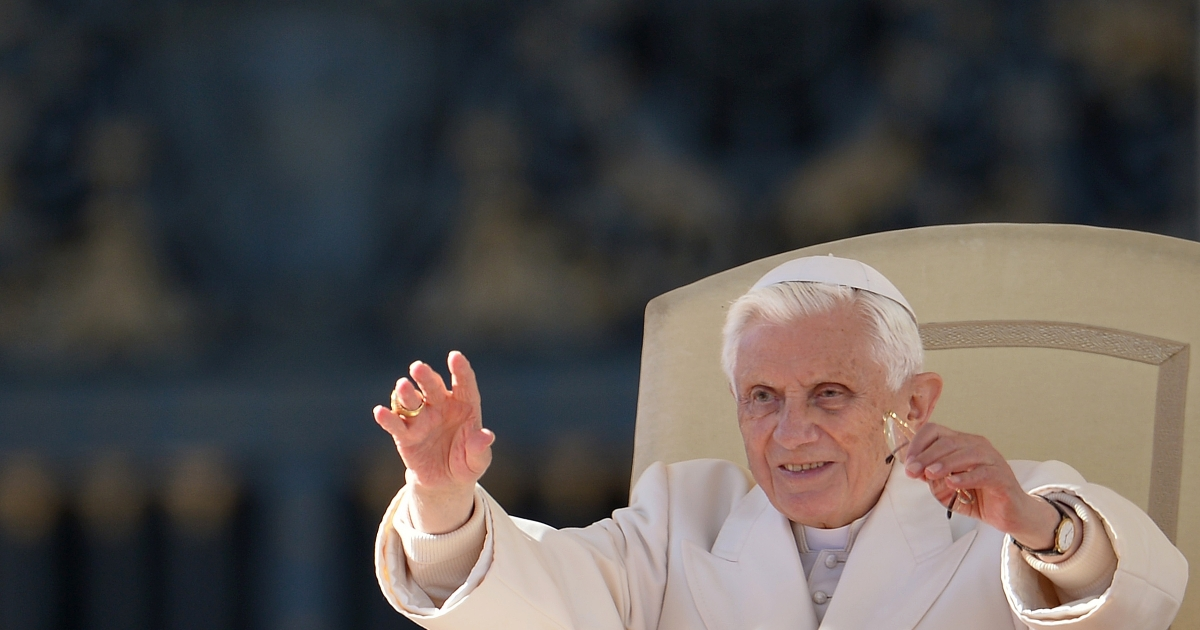 Pope Benedict XVI, pictured during his weekly general audience on November 7, 2012 at St Peter's square at the Vatican, has begun tweeting from his new Twitter handle.</p>