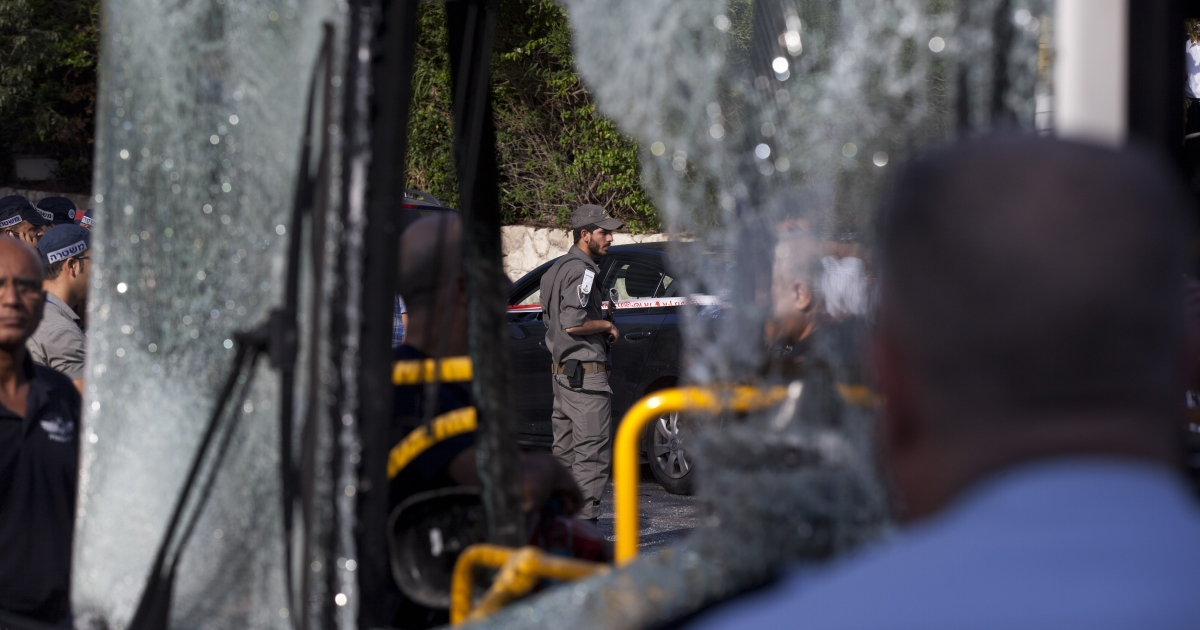 A suspect in the Tel Aviv bus bombing Wednesday was arrested by Israeli police who said the man had admitted to the crime.</p>