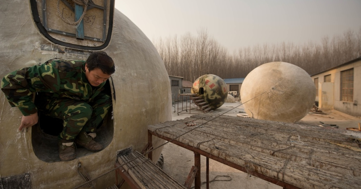 The airtight spheres with varying interiors contain oxygen tanks and seatbelts with space for around 14 people, and are designed to remain upright when in water.</p>