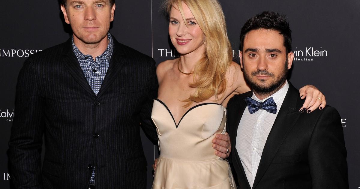 Actor Ewan McGregor, actress Naomi Watts, and director J.A. Bayona attend