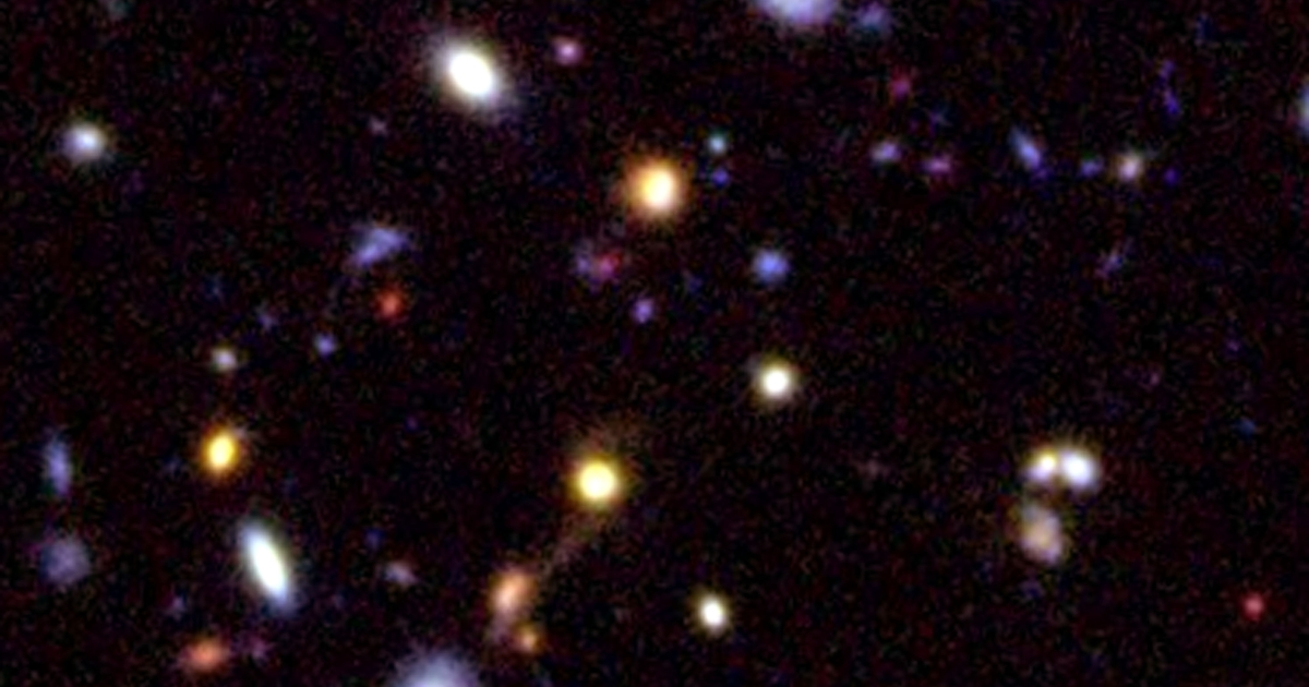 This image of galaxies in the farthest reaches of deep space was released by the European Southern Observatory (ESO) on December 11, 2002. With their new telescope, the ESO will be able to take sharper photos deeper in space.</p>