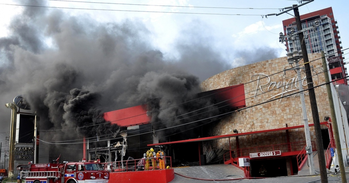 The Casino Royale smolders after 52 people died inside. Police say the owner failed to pay off a drug cartel.</p>