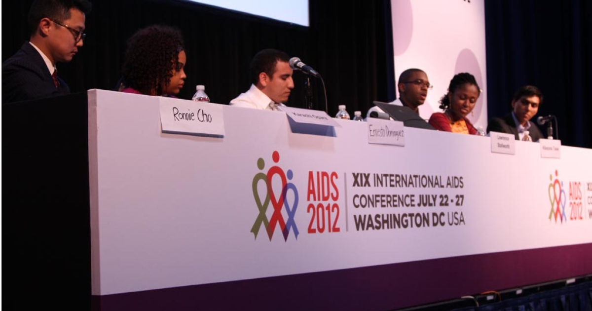 A panel discussion in the Youth Pavilion at AIDS 2012, entitled