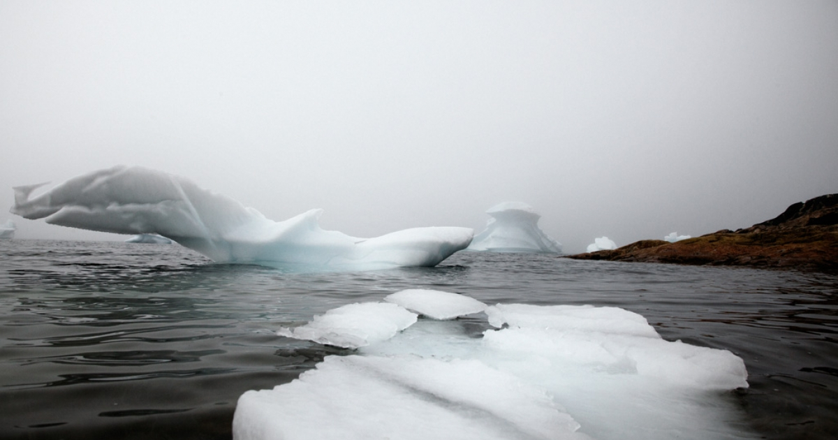 Icebergs float off the coast of Upernavik, Greenland, July 18, 2012. Every year, about 15,000 icebergs detach from the land and can float up to 40 degrees north and/or south, especially during summer months. The biggest icebergs can reach a surface of more than 11,550 square miles. In cold waters, icebergs can last about four years, but if the temperature rises above 41 degrees Fahrenheit, they can melt in a few days.</p>